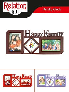Family Photo Frame with Clock