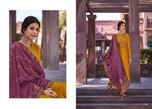 DEEPSY SUIT PRESENTS MIRAI MULBERRY SILK WITH SELF EMBROIDERY WORK SALWAR SUITS WHOLESALE RATE AT SU