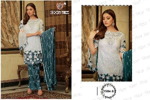 HOOR TEX PRESENTS BEAUTIFUL COLOUR GOLD VOL 1 FOX GEORGETTE WITH EMBROIDERY WORK PAKISATNI SUITS WHO