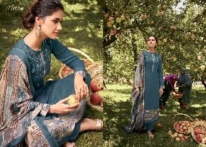 ITRANA PRESENTS AFREEN COTTON SATIN DIGITAL PRINT WITH EMBROIDERY WORK SALWAR SUITS WHOLESALE DELAER