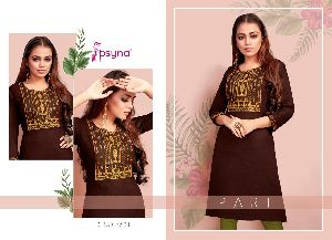 Psyna Presents Pari Vol 7 Rayon Slub Casual Wear Kurti