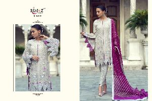 RINAZ FASHION PRESENTS D NO 1117 1118 FOX GEORGETTE WITH HEAVY EMBROIDERY WORK PAKISATNI SUITS