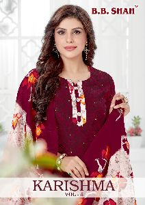 SHREE GANESH PRESENTS KARISHMA VOL 5 PURE COTTON FANCY DESIGNER SALWAR SUITS ONLINE WHOLESALER SURAT