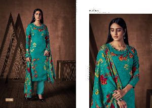 ZULFAT DESIGNER SUITS PRESENTS WINTER MAGIC VOL 4 PURE PASHMINA DIGITAL PRINT SALWAR KAMEEZ