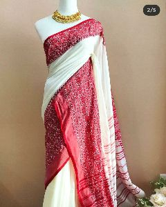 Handloom Khadi cotton saree
