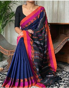 Katha Buti Work Pure Mercerised Cotton Saree
