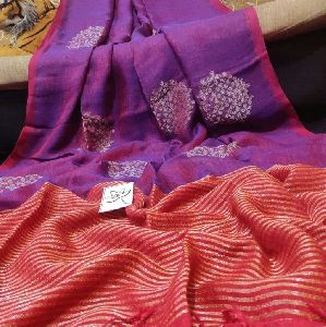 Fancy Linen Jamdani Saree