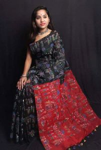 Madhubani Print Silk Cotton Saree