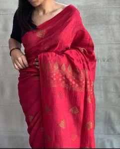 Organic Linen saree