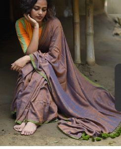 Plain Khadi Cotton Saree