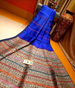 Printed Pure Matka Silk saree