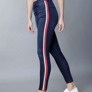 Ladies Striped Jeans