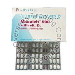 Macalvit  calcium with vitamin D 500mg Tablets