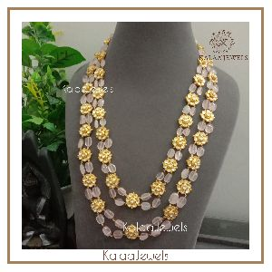 Kundan Beaded Long Necklace