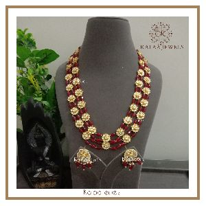 Kundan Beaded Necklace Set