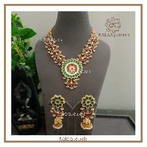 Kundan Meenakari Necklace Set