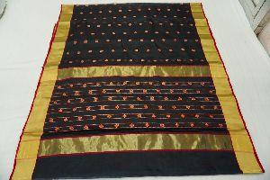 Chanderi Handloom Katan Silk Embroidered Saree