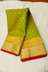 Chanderi Handloom Katan Silk Fancy Saree