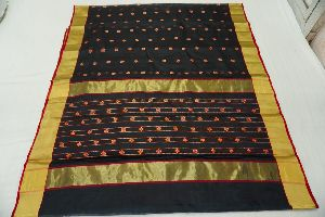 Chanderi Handloom Katan Silk Fancy Saree with Blouse