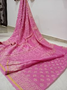 Chanderi Handloom Printed Saree