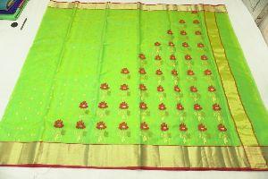 Chanderi Handloom Tradition Katan Silk Saree