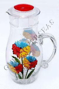 Glass Printed Water Jug