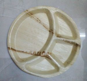 Round Areca Leaf Partition Plates