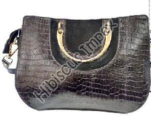Cow Croco & Cow Suede Leather Bags