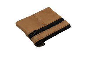 Brown Leather Coin Wallet