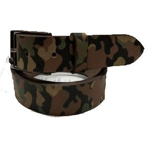 Mens Camouflage Leather Belt