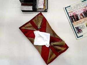 Banarsi Fabric Tissue Paper Pouch
