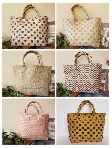 Block Printed Canvas Handbag