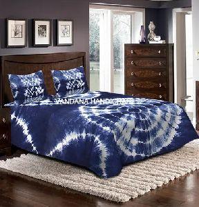 Blue Indigo Printed Bedsheet