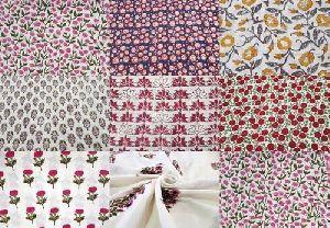 Cotton Sanganeri Print Fabric