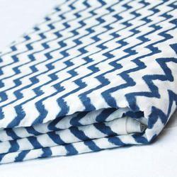 Cotton Zig Zag Print Fabric