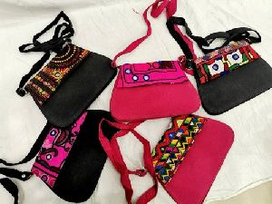 Embroidered Sling Bags