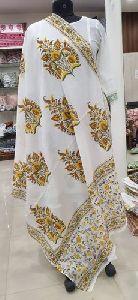 Hand Block Printed Cotton Dupatta