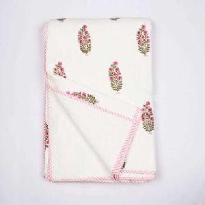 Hand Block Printed Cotton Quilt