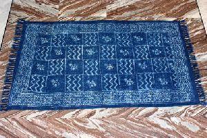 Indigo Blue Cotton Dhurrie
