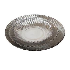 Biodegradable Silver Paper Plates