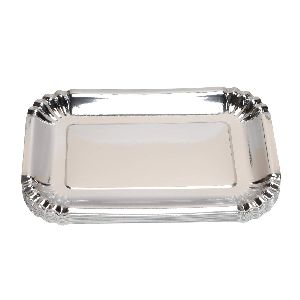 Rectangle Silver Paper Plates
