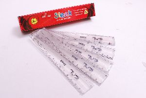 6 Sleek Plastic Ruler
