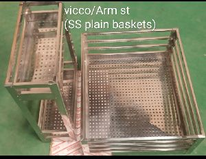 Stainless Steel Arm Plain Basket