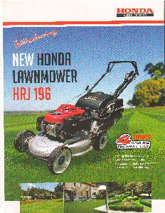 Honda Lawn Mowers(HRJ 196)