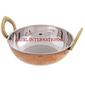 Copper Steel Serving Dish