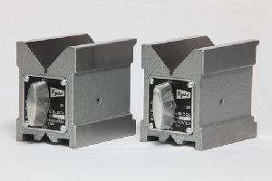 Crystal Steel Magnetic V Blocks
