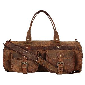 Genuine Buffalo Leather Duffel Travel GYM Luggage Bag