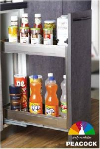 200mm 2 Shelf Satin Bottle Pullout