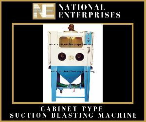 Cabinet Suction Type Sand Blasting Machine
