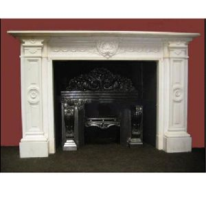 White Marble Fireplace Mantels